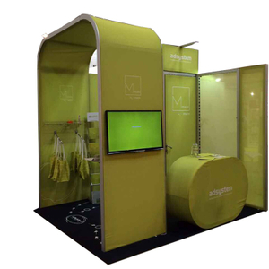 Mobile Modular Shell Scheme Tradeshow Booth 10x10 Exhibit Booth