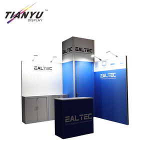 Customized modular 10x10 portable fabric tradeshow for exhibition booth ideas