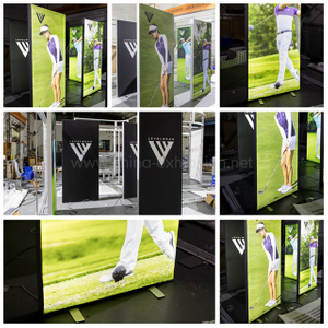 Custom seg advertising aluminium led frameless fabric light box